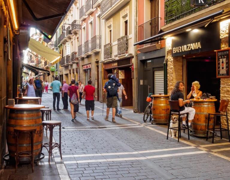 Pelgrim in Pamplona, Omgeving San Nicholas